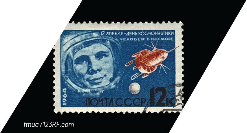Russian Yuri Gagarin becomes first human to orbit Earth in Vostok 1
