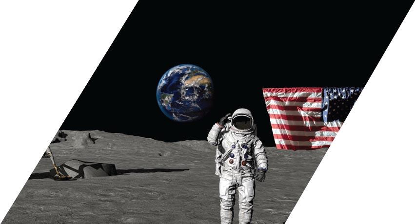 USA's Apollo 11 crew lands on the moon
